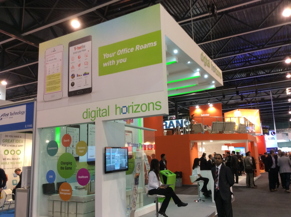Digital Horizons Employees Anup Shinde and Saswata Banerjee at Mobile World Congress 2015
